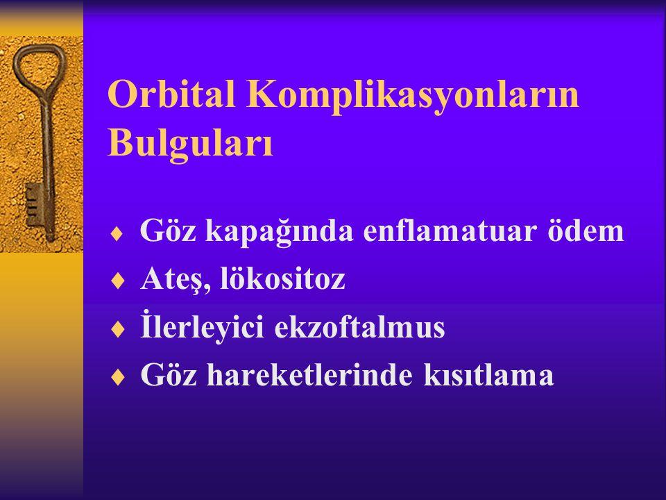Orbital Komplikasyonların Bulguları