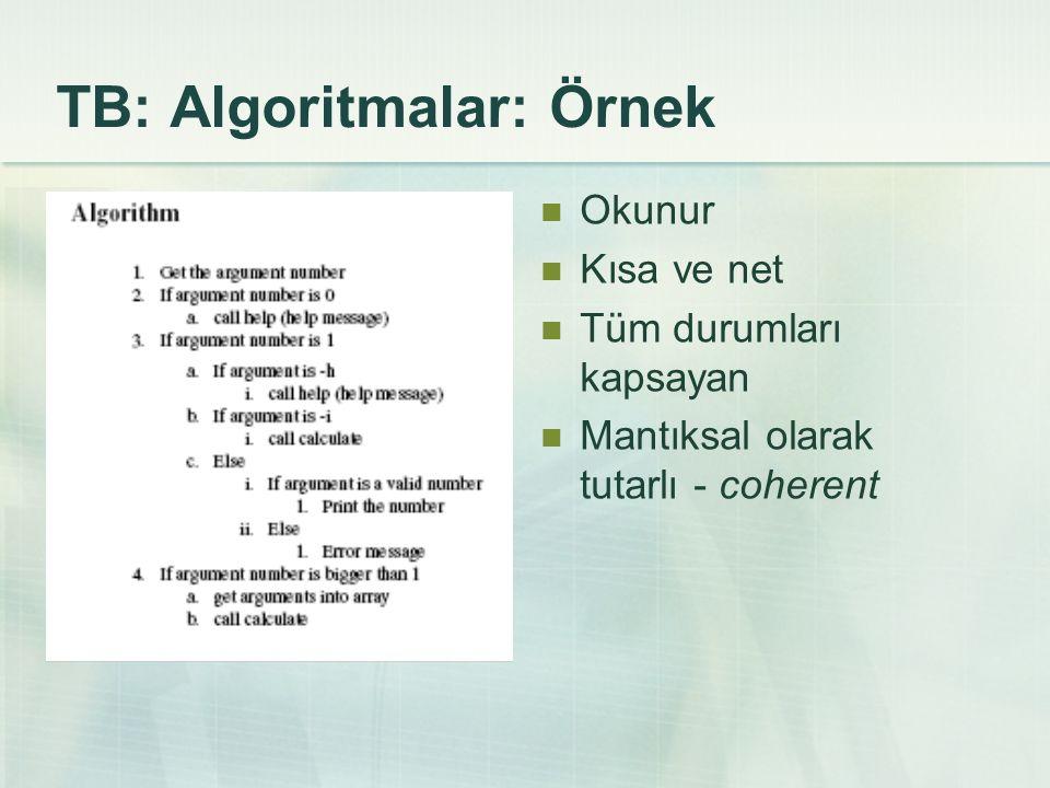 TB: Algoritmalar: Örnek