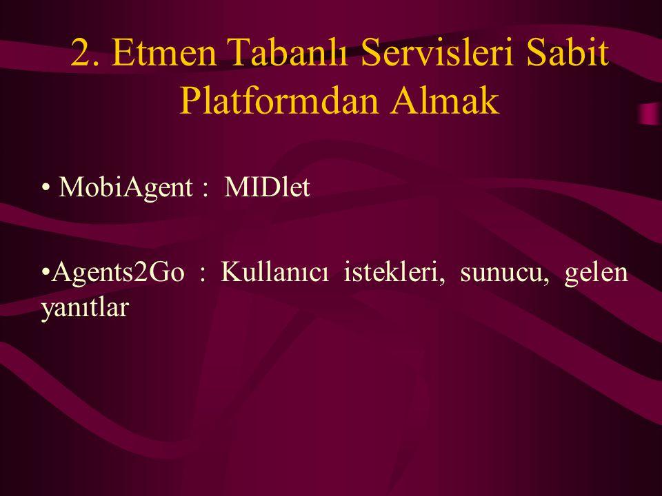 2. Etmen Tabanlı Servisleri Sabit Platformdan Almak