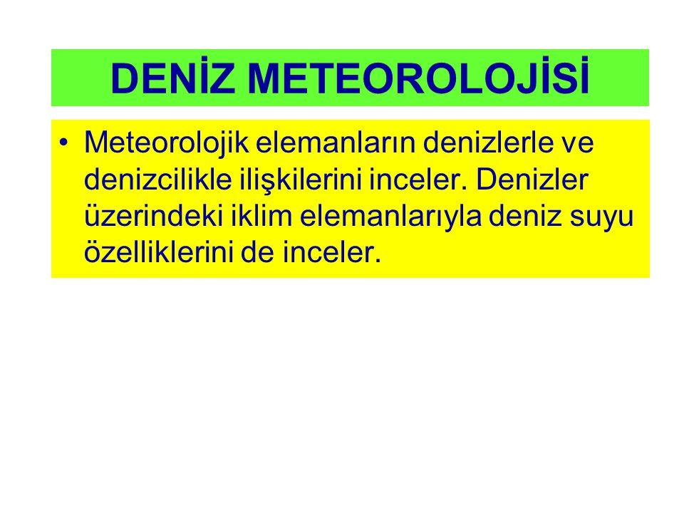 DENİZ METEOROLOJİSİ