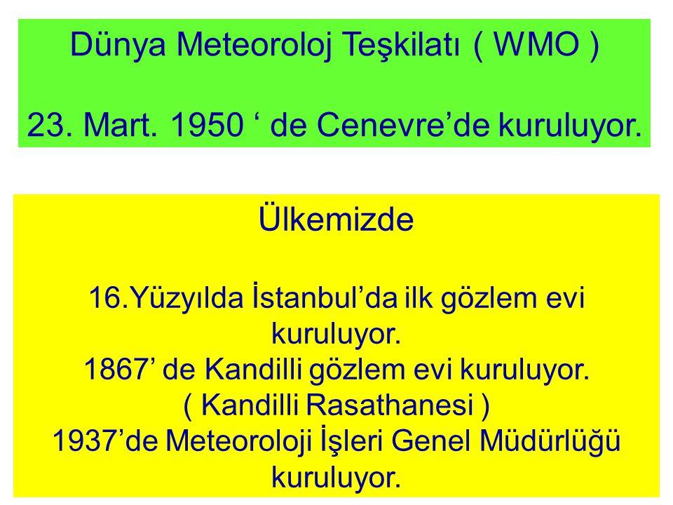 Dünya Meteoroloj Teşkilatı ( WMO )
