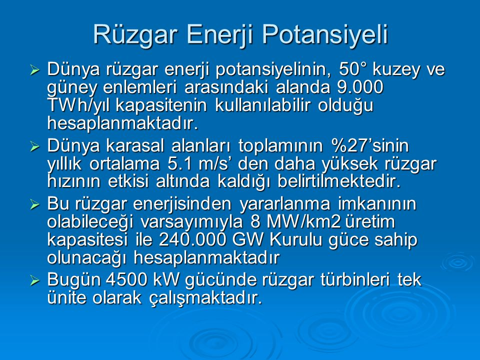 Rüzgar Enerji Potansiyeli