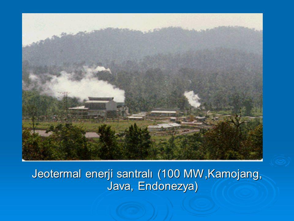 Jeotermal enerji santralı (100 MW,Kamojang, Java, Endonezya)