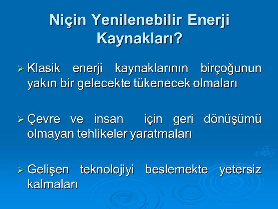 Niçin Yenilenebilir Enerji Kaynakları