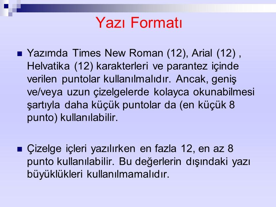 Yazı Formatı