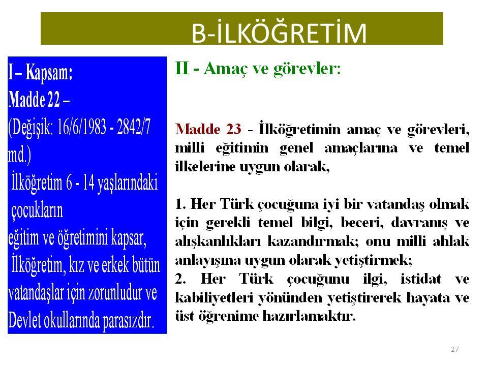 B-İLKÖĞRETİM