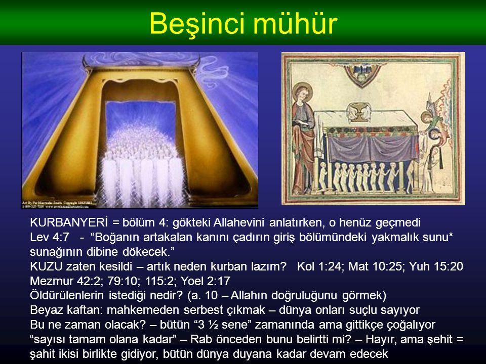 Beşinci mühür KURBANYERİ = bölüm 4: gökteki Allahevini anlatırken, o henüz geçmedi.