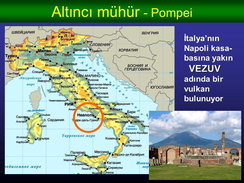 Altıncı mühür - Pompei İtalya'nın Napoli kasa-basına yakın