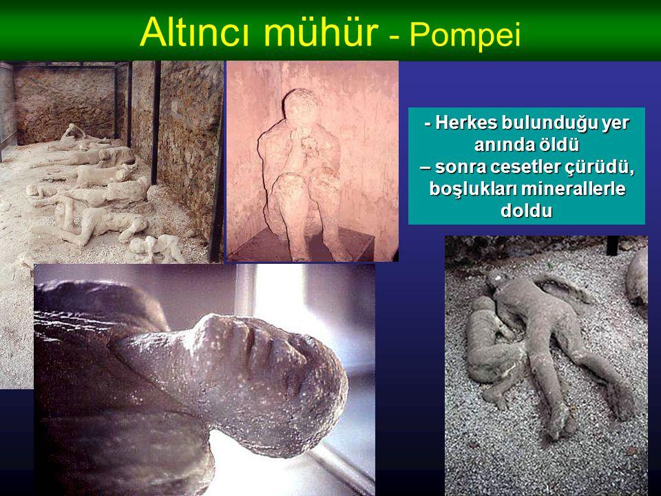 Altıncı mühür - Pompei - Herkes bulunduğu yer anında öldü