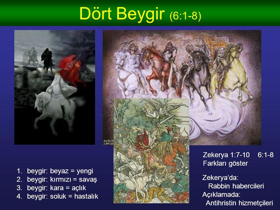 Dört Beygir (6:1-8) Zekerya 1:7-10 6:1-8 Farkları göster