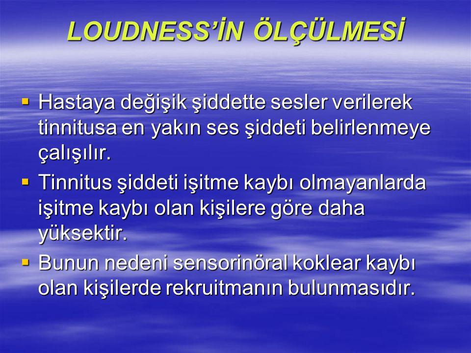 LOUDNESS'İN ÖLÇÜLMESİ