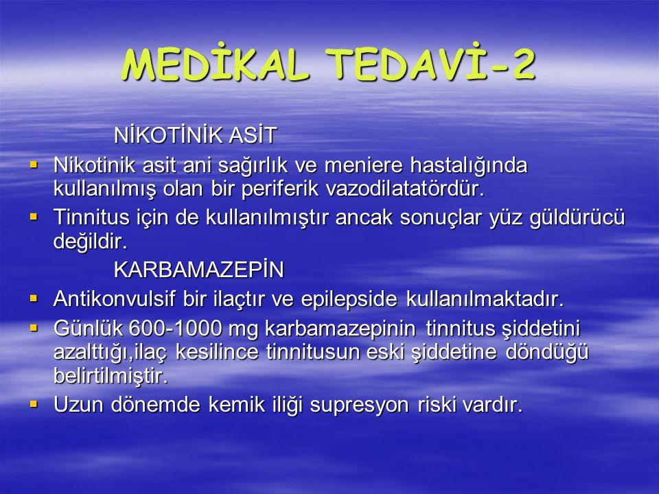 MEDİKAL TEDAVİ-2 NİKOTİNİK ASİT