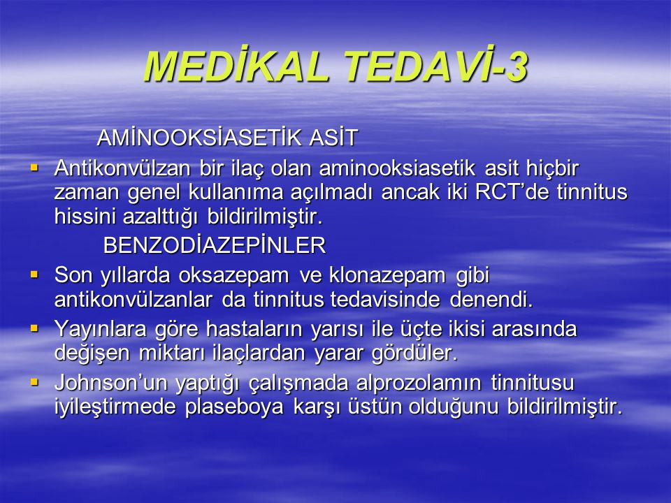 MEDİKAL TEDAVİ-3 AMİNOOKSİASETİK ASİT