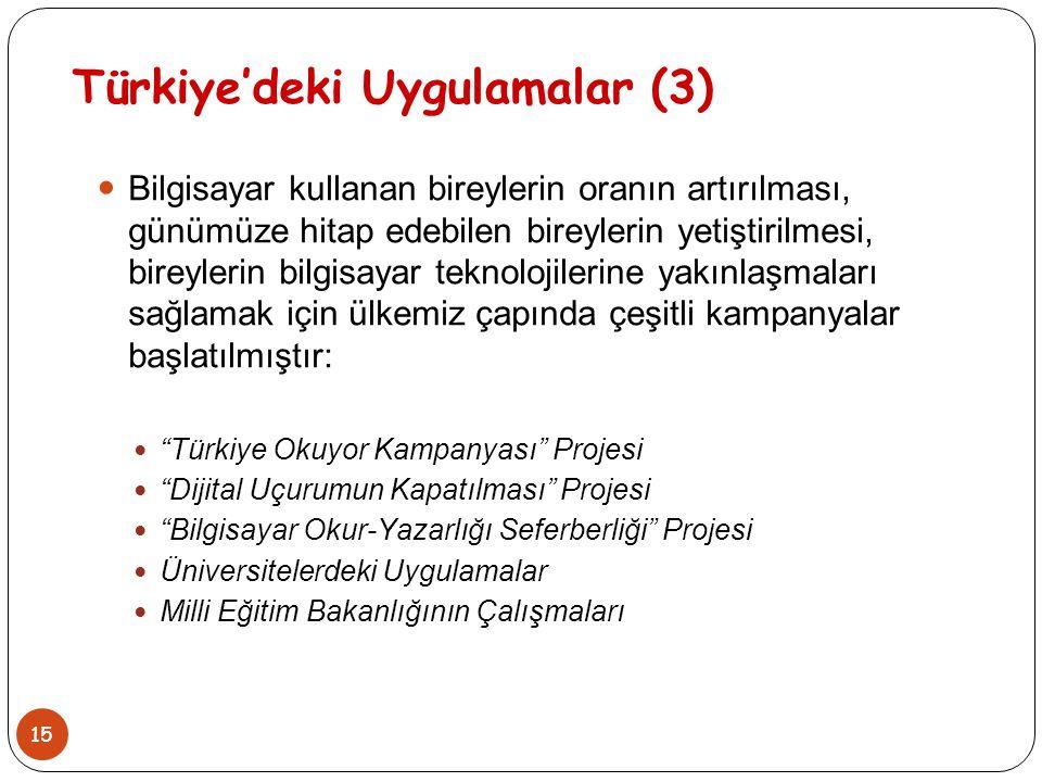 Türkiye'deki Uygulamalar (3)