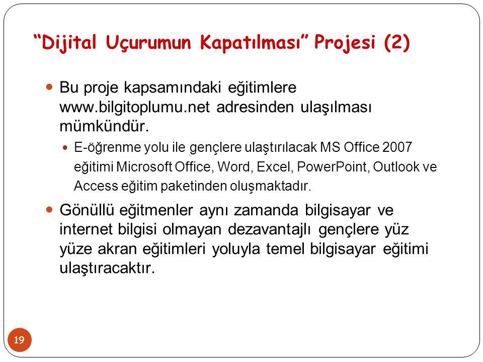 Dijital Uçurumun Kapatılması Projesi (2)