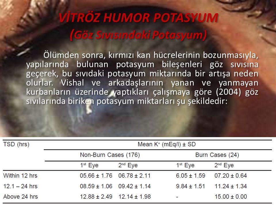 VİTRÖZ HUMOR POTASYUM (Göz Sıvısındaki Potasyum)