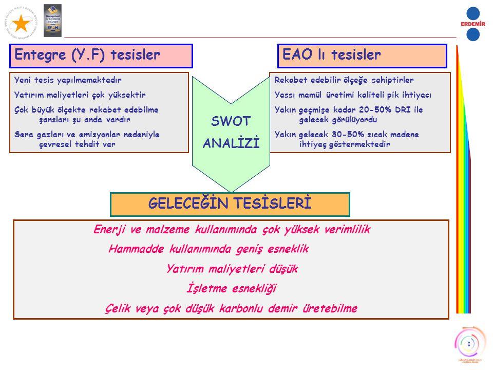 Entegre (Y.F) tesisler EAO lı tesisler GELECEĞİN TESİSLERİ SWOT