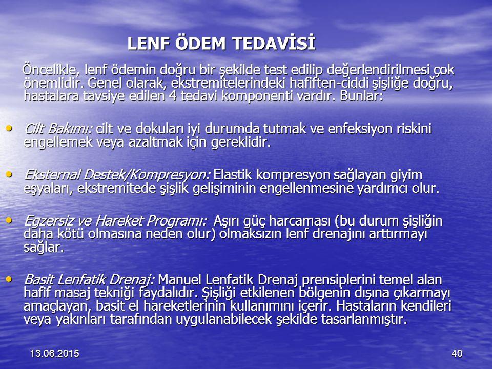 LENF ÖDEM TEDAVİSİ
