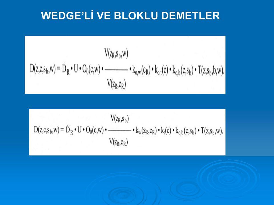 WEDGE'Lİ VE BLOKLU DEMETLER
