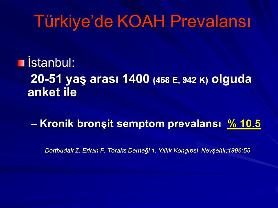 Türkiye'de KOAH Prevalansı