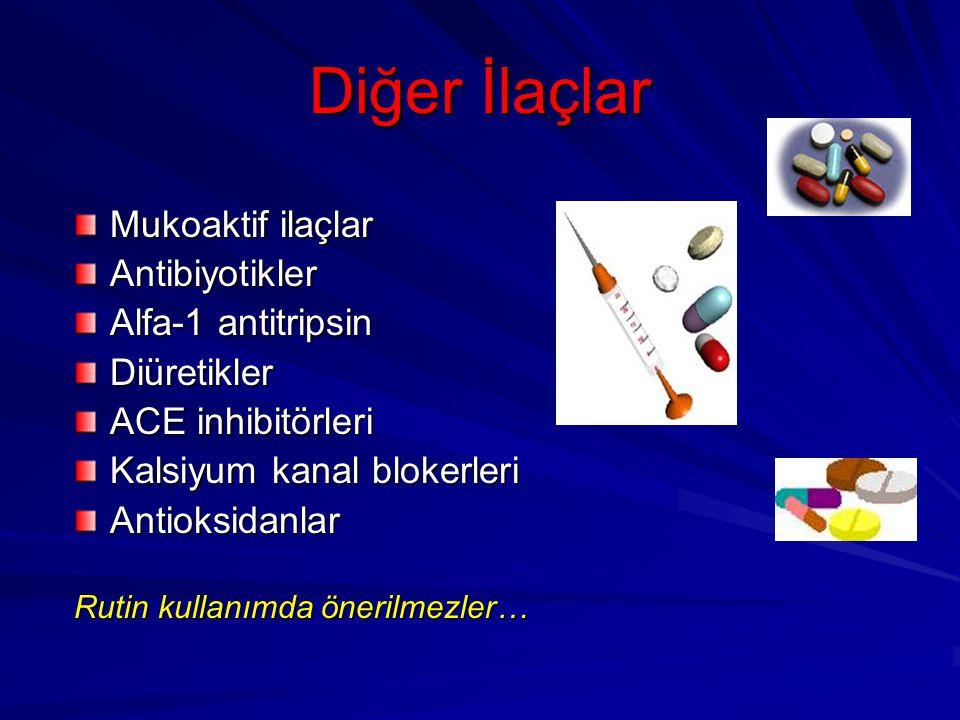 Diğer İlaçlar Mukoaktif ilaçlar Antibiyotikler Alfa-1 antitripsin