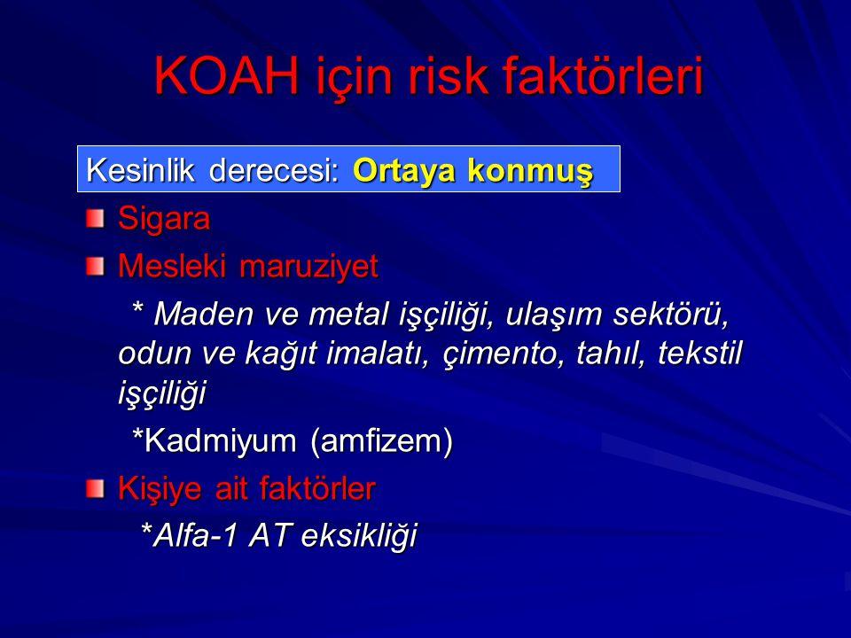 KOAH için risk faktörleri
