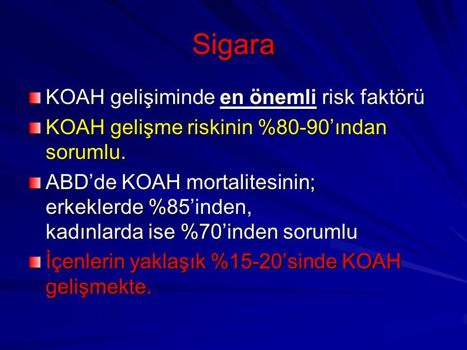 Sigara KOAH gelişiminde en önemli risk faktörü