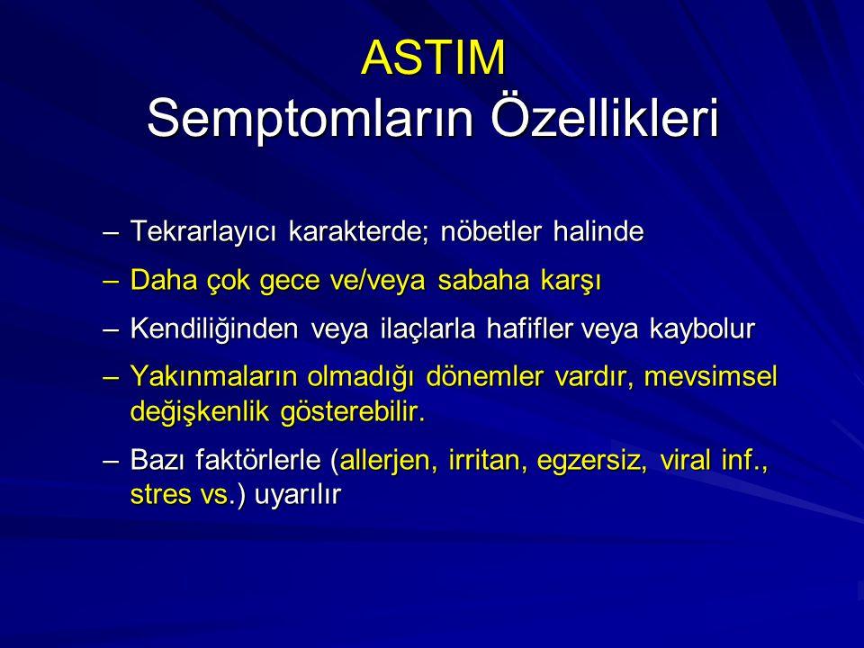 ASTIM Semptomların Özellikleri