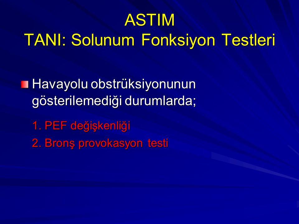 ASTIM TANI: Solunum Fonksiyon Testleri