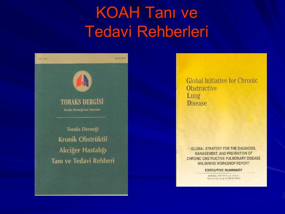 KOAH Tanı ve Tedavi Rehberleri