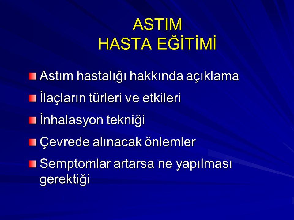 ASTIM HASTA EĞİTİMİ Astım hastalığı hakkında açıklama