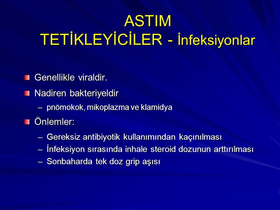 ASTIM TETİKLEYİCİLER - İnfeksiyonlar