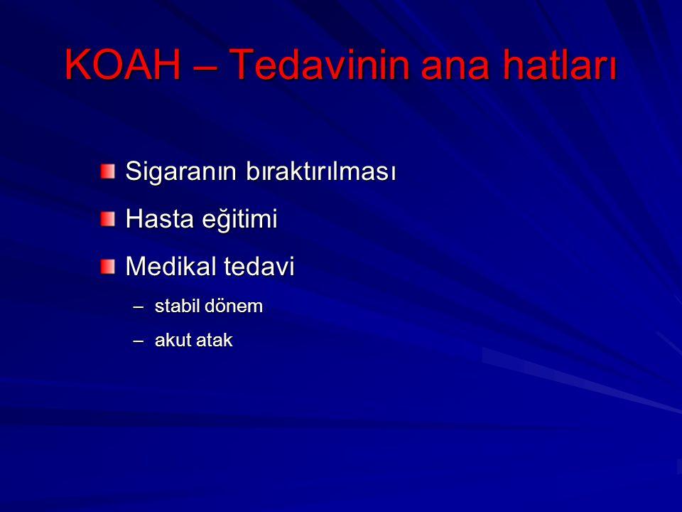 KOAH – Tedavinin ana hatları