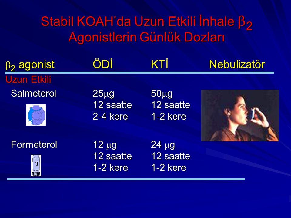 Stabil KOAH'da Uzun Etkili İnhale b2 Agonistlerin Günlük Dozları