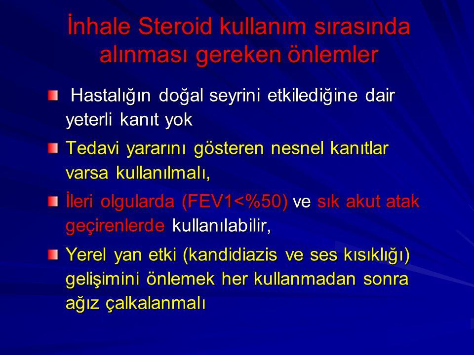 İnhale Steroid kullanım sırasında alınması gereken önlemler