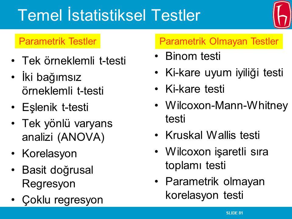 Temel İstatistiksel Testler