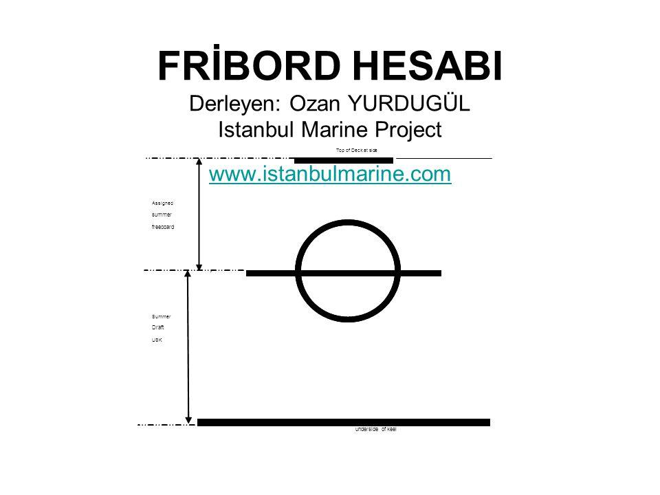 FRİBORD HESABI Derleyen: Ozan YURDUGÜL Istanbul Marine Project www
