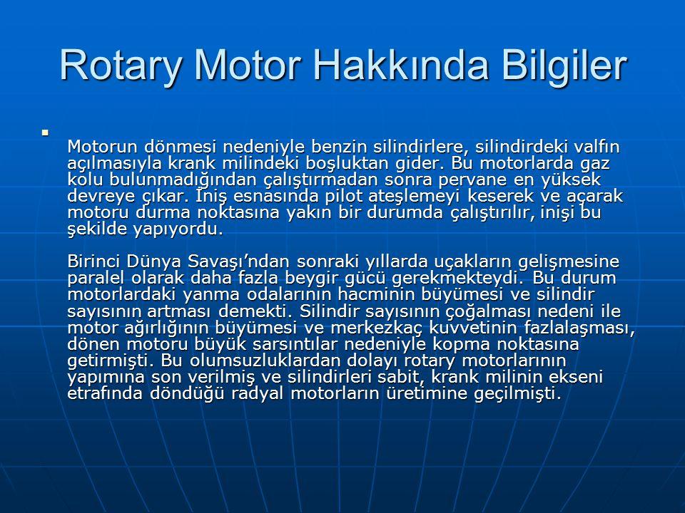 Rotary Motor Hakkında Bilgiler