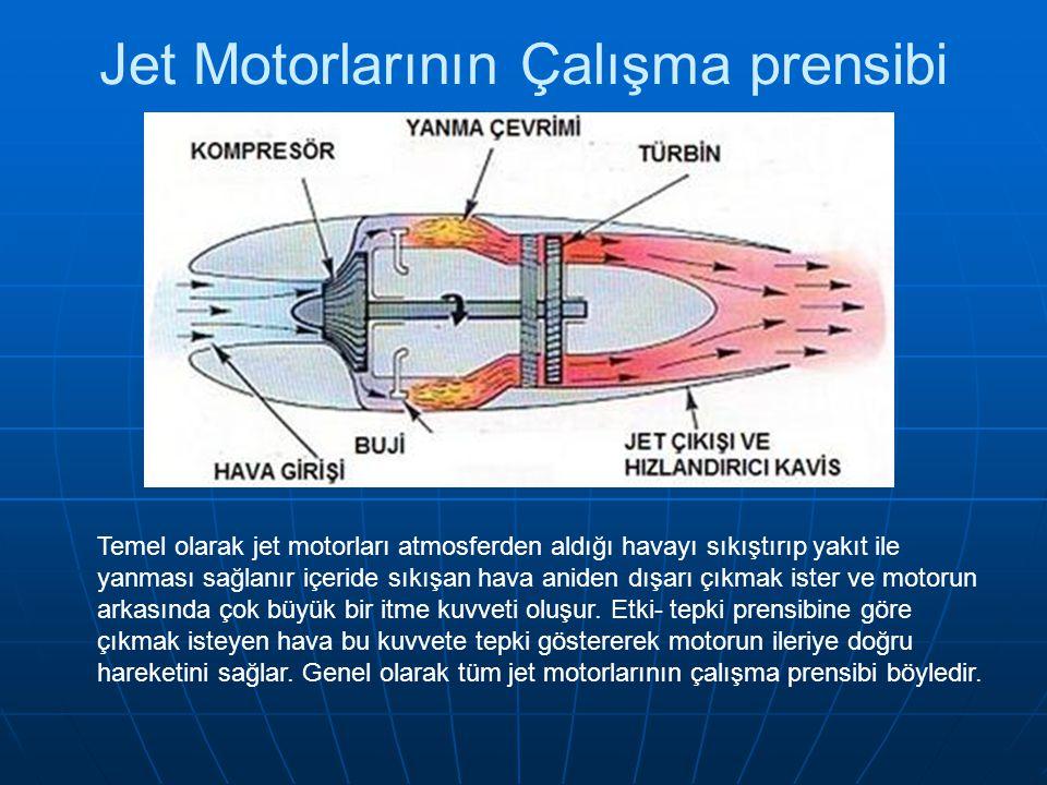 Jet Motorlarının Çalışma prensibi