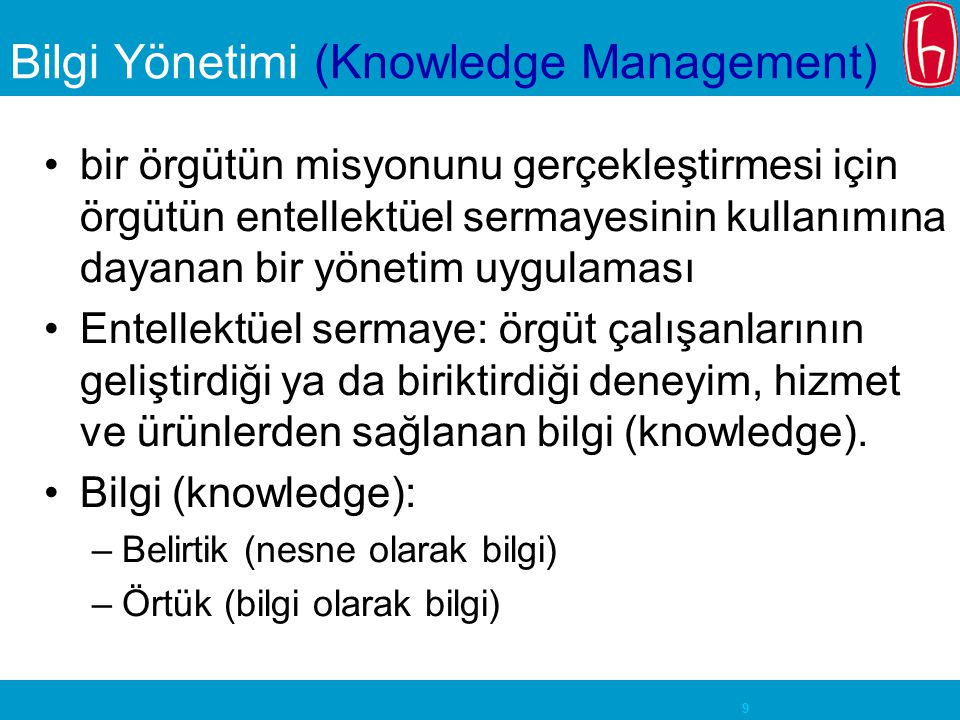 Bilgi Yönetimi (Knowledge Management)