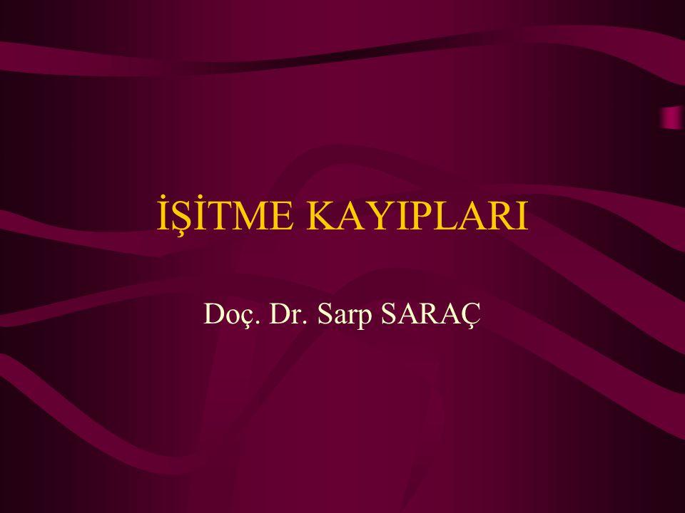 İŞİTME KAYIPLARI Doç. Dr. Sarp SARAÇ