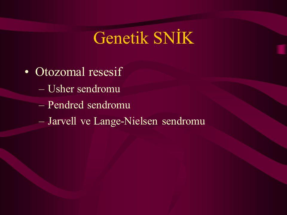 Genetik SNİK Otozomal resesif Usher sendromu Pendred sendromu