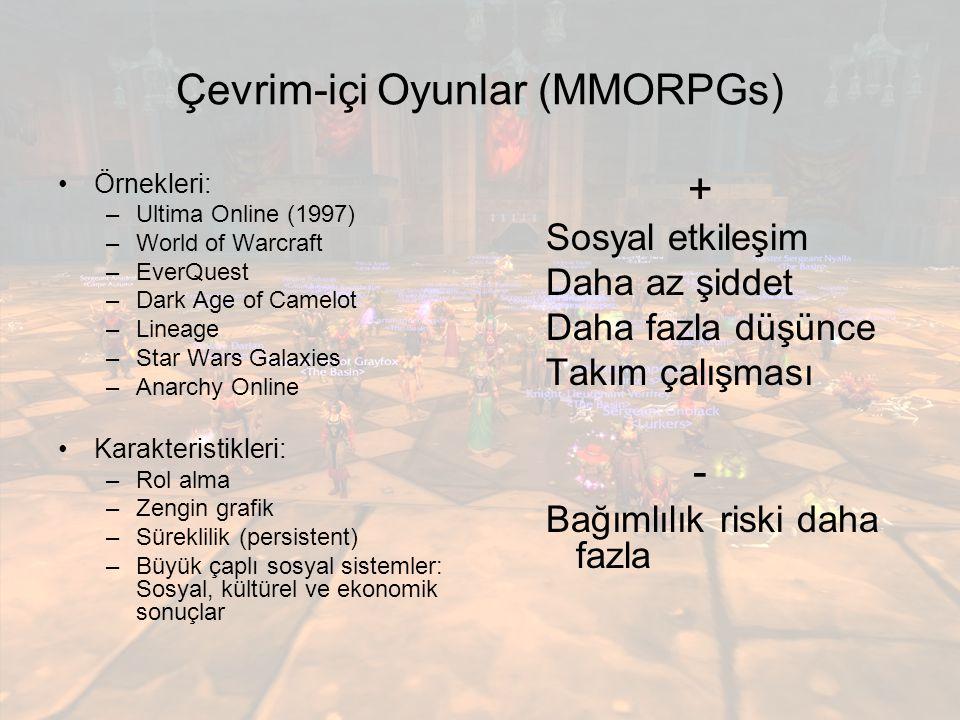 Çevrim-içi Oyunlar (MMORPGs)