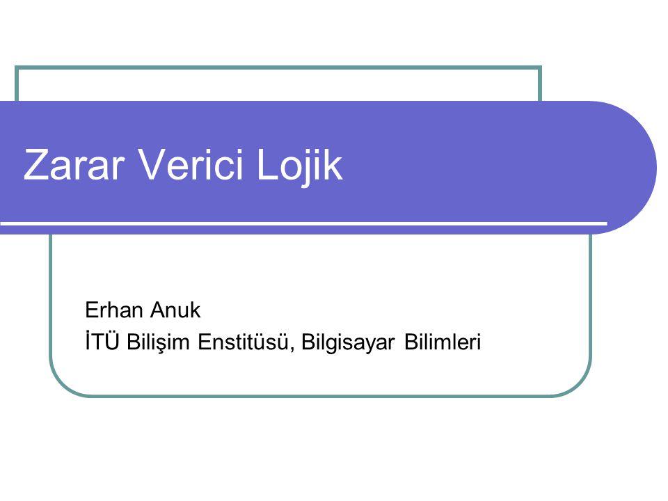 Erhan Anuk İTÜ Bilişim Enstitüsü, Bilgisayar Bilimleri