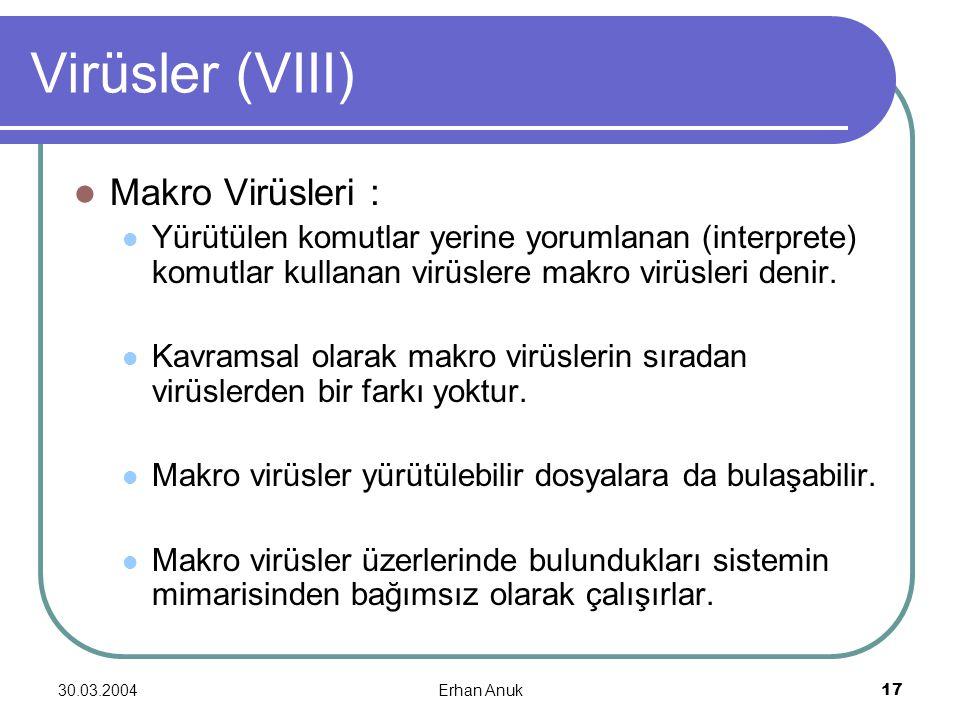 Virüsler (VIII) Makro Virüsleri :