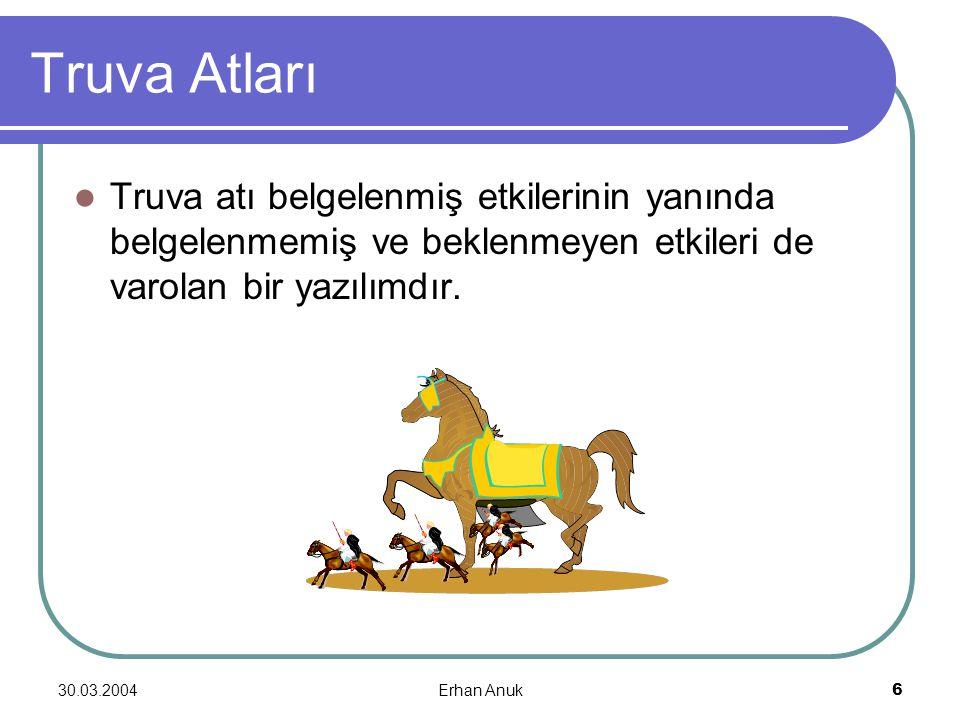 Truva Atları Truva atı belgelenmiş etkilerinin yanında belgelenmemiş ve beklenmeyen etkileri de varolan bir yazılımdır.