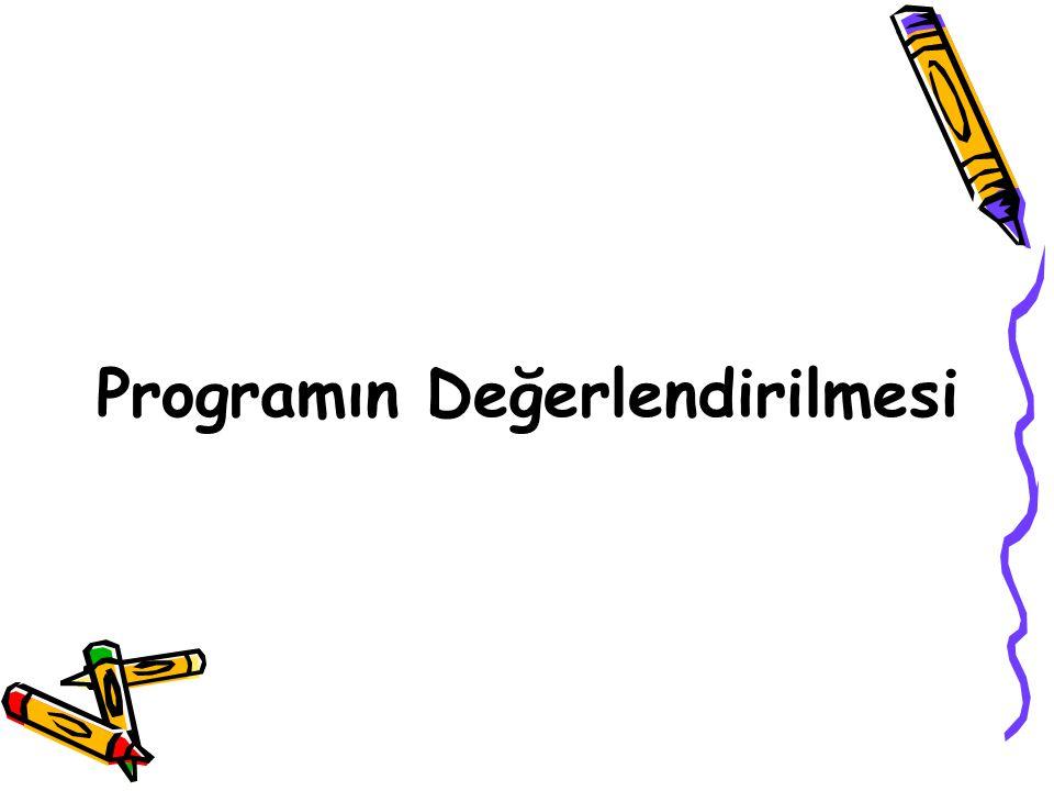 Programın Değerlendirilmesi