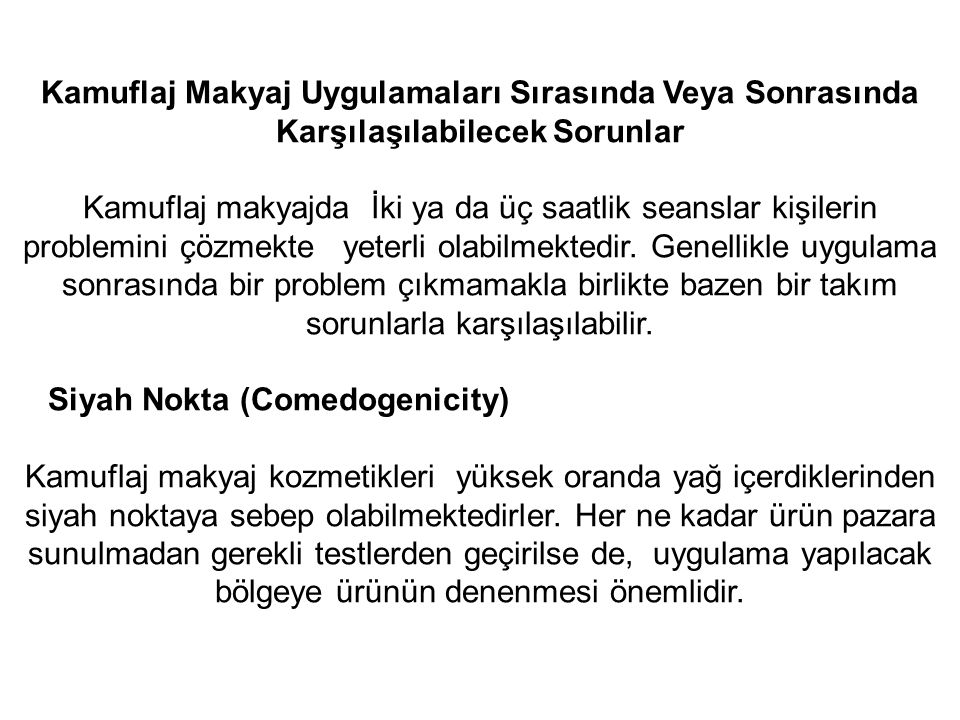 Siyah Nokta (Comedogenicity)