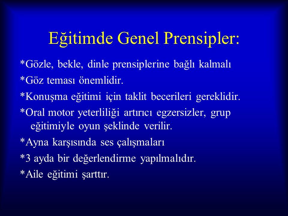 Eğitimde Genel Prensipler: