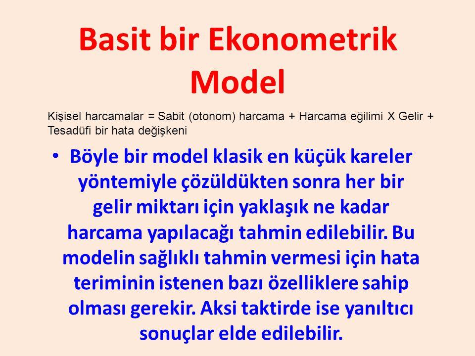 Basit bir Ekonometrik Model
